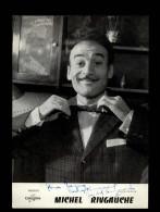 AUTOGRAPHES - MICHEL RIVGAUCHE - Théâtre PACRA à Paris - Dédicace - Disques Columbia - - Autographs