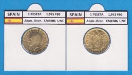 SPAIN  /JUAN CARLOS I    1 PESETA  1.975 #80  Aluminium-Bronze  KM#806   SC/UNC  T-DL-9368 - 1 Peseta