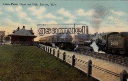 Rawlins Est Le Siège Du Comté De Carbon, État Du Wyoming, Aux États-Unis. Union Pacific Depot And Park, Rawlins, Wyo. - Etats-Unis