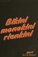 PUBLICITE  @@  MARS  @@  BIKINI,MONOKINI,RIENKIRI - Pubblicitari
