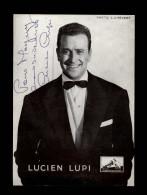 AUTOGRAPHES - LUCIEN LUPI - Théâtre PACRA à Paris - Dédicace - PATHE MARCONI - Autographes