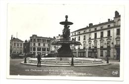 Cp, 51, Châlons-sur-Marne, La Grande Fontaine Place De La République, écrite - Châlons-sur-Marne