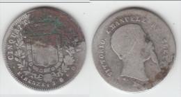 * ITALIE (TOSCANE) - ITALIA (TUSCANY) - 50 CENTESIMI 1860 FIRENZE VITT. EMANUELE - ARGENT - SILVER ** ACHAT IMMEDIAT !!! - Regional Coins