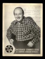 AUTOGRAPHES -  JACQUES LABRECQUE - Théâtre PACRA à Paris - Dédicace - STUDIO HARCOURT - Autographes
