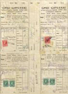 GODI GIOVANNI CORRIERE DIRETTO LOTTO DI 17 BOLLETTE DI CONSEGNA CON MARCHE DA BOLLO COPPIA 10 CEN O 20 CENT C.1543 - Non Classificati