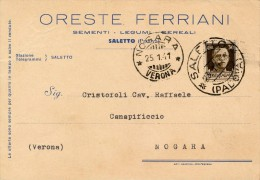 SALETTO PADOVA - ORESTE FERRIANI SEMENTI LEGUMI CEREALI 1941 - Padova (Padua)