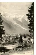 CHAMONIX (74) - Vue Générale Et Le Mont-Blanc - Chamonix-Mont-Blanc