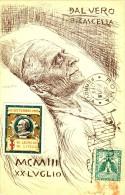 Cartolina ITALIA Illustratore BASILIO CASCELLA MORTE PAPA LEONE XIII Con Erinnofilo - Italy Postcard Artist Signed Carte - Illustrateurs & Photographes