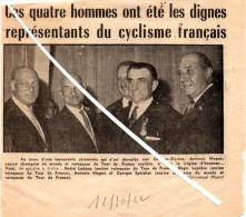 Coupure De Journal De 1962 : Anciens Champions Cyclistes. A.Magne Reçoit La Légion D'Honneur. Leducq, Lapébie, Speicher. - Cyclisme
