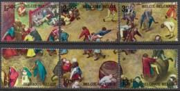 Belgium** BREUGHEL Painting –MEDIEVAL CHILDREN GAMES-6vals -1967-MNH-peintures- - Bélgica