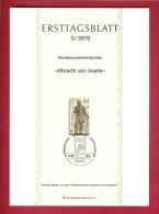 GERMANY-BERLIN 1978, Ersttagblatt Nr 5, Albrecht Von Graefe - [5] Berlin