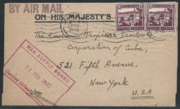 Palestine, Feb. 24, 1945, War Supply Board Certified, Cover Sent To New York, N.Y. - Palestine