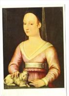 Chefs D'oeuvre Musée Angers, Ecole Française ...Portrait Présumé D'Agnès Sorel. Pub Loterie Nationale (chien) - Peintures & Tableaux