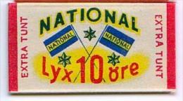 RAZOR BLADE RASIERKLINGE NATIONAL LYX 10 Ore  EXTRA TUNT - Rasierklingen