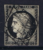 France Yv. Nr 3 Obl/used Grille - 1849-1850 Cérès
