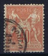 France Yv. Nr 70 Obl/used Type I - 1876-1878 Sage (Type I)