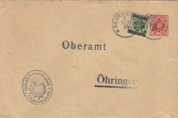 WÜRTT. DU 7 IIA + ZFr. Wü. 136, Gestempelt: Neuenstein 7.NOV 1919 - Wurtemberg