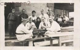 CARTE PHOTO : CLERMONT-FERRAND SOLDATS JOUANT AUX CARTES JEU DE CARTES 13eme COMPAGNIE SOUVENIR RESERVISTES - Régiments