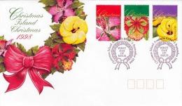 CHRISTMAS ISLAND 1998, First Day Of Issue, 3 Fach Frankierung Auf Schmuckbrief - Christmas Island