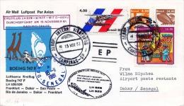 BRASIL 1981, Erstflug LH 529 - BOING 747 F - Mit D-ABYU - SAO/RIO DAKAR, Frankfurt > Dakar > Sao Paulo > Rio De - Luftpost (private Gesellschaften)