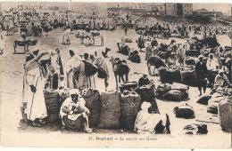 BOGHARI  Le Marché Aux Grains  Timbre Décollé Aminci - - Algérie