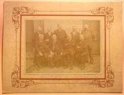 1900 Photographie Ancienne GRAND FORMAT Photo Sur Carton 73 AIX LES BAINS Hoteliers NOTABLES Mr GAILLARD Hotel EUROPE - Ancianas (antes De 1900)