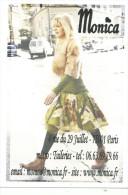 Boutique Monica , Mode Femme, 4 Rue Du 29 Juillet 75001 Paris, Dos Vierge, Format 12.8 Sur 9 Cm - Moda