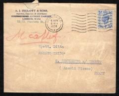 GRAN BRETAGNA - 1950 - BUSTA COMMERCIALE - LONDON W. C. - Storia Postale