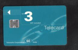 MALTA RARE USED PHONECARD /  C 8 DIGITS - Malta