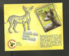 RO) 2009 PERU, DOG, HAIRLESS DOG, SOUVENIR MNH - Peru