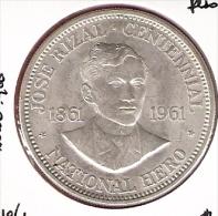 FILIPPIJNEN PESO 1961 AG UNC TYPE COIN - Philippines