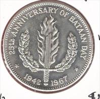 FILIPPIJNEN PESO 1967 AG UNC TYPE COIN - Filippine