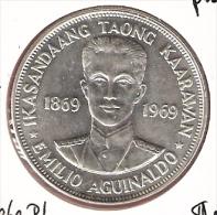 FILIPPIJNEN PESO 1969  AG PL TYPE COIN - Philippines