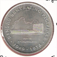 FILIPPIJNEN 25 PISO 1974  AG UNC TYPE COIN - Filippine