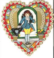 "Valentine Card  4.3"" X 4.3""  11.5 Cm X11.5 Cm One Hinge Is Broken   I'm So Bashful! The Valentine's A Fine ............. - Seasons & Holidays"