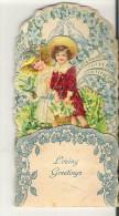 "Valentine Card  2.5"" X 4.6""  6 Cm X11.8 Cm Loving Greetings Will Set Up 3 D - Seasons & Holidays"