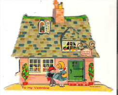 """Valentine Card  4"""" X 4""""  10 Cm X10 Cm To My Valentine Door And Window Will Open Some Damage At Bottom - Seasons & Holidays"""