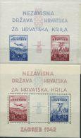 CE2044 Croatia 1942 Aircraft And Model Aircraft 2v+imperf MNH - Croatia