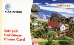 TELECARTE BARBADES  Bathsheba - Barbades