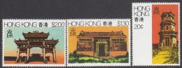 HONG KONG, 1980 ARCHITECTURE 3 MNH - Ongebruikt