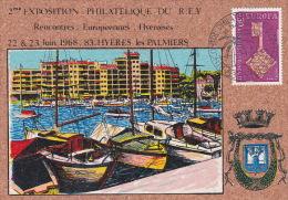 France 1968 Philatelic Expo Souvenir Card - Europa-CEPT
