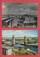 29 - BREST - 4 CPM - Port De Guerre - Tour Tanguy - Pont Recouvrance - Pont Harteloire - Voiture - Bateau - Finistère - Brest