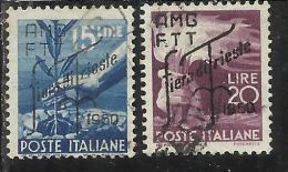 TRIESTE A 1950 AMG - FTT ITALIA ITALY OVERPRINTED FIERA DI TRIESTE SERIE COMPLETA USATA USED - Gebraucht