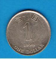 HONG KONG - 1 Dolar 1998  KM69 - Hong Kong