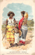 Carte Publicitaire De Pommade FLORENTINE - Illustrateur - Les Races Humaines -ETIOPIE - ABYSSINIE - Femmes Du HARRAR - Ethiopie