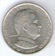 MONACO 1 FRANC 1960 RAINIER III - Monaco