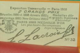 PAPIER à Cigarettes RIZLA +  LACROIX Fils N° 32 EXPOSITION UNIVERSELLE 1900 - Unclassified