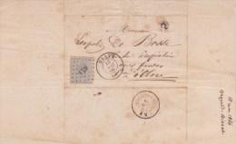 1866 courrier de Bragard Bissot Chaineux � L�opold De Bosse rentier � Olne oblit�rations Herve & Nessonvaux