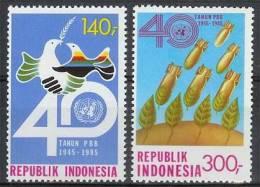 Mgm1247 40 JAAR VERENIGDE NATIES VOGEL 40 YR UNITED NATIONS BIRD UNO VEREINTE NATIONEN INDONESIA 1985 PF/MNH  VANAF1EURO - VN