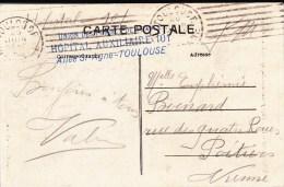 1915 - HAUTE GARONNE - CARTE DE L´HOPITAL AUXILIAIRE N° 101 De TOULOUSE - Poststempel (Briefe)